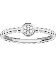 Thomas Sabo D-TR0004-725-14-54 Panie Glam i duszą 925 srebrny pierścionek z brylantem - O ROZMIAR (UE 54)