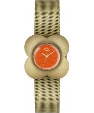 Orla Kiely OK4050 mak Ladies pozłacana bransoletka zegarek