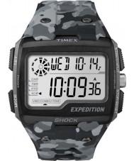 Timex TW4B03000 Mężczyźni wyprawa szok cyfrowy szary kamuflaż Chrono zegarek