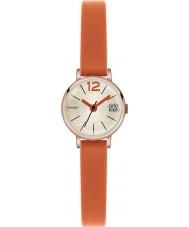 Orla Kiely OK2024 Panie Frankie pomarańczowy zegarek skórzany pasek