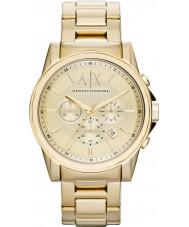 Armani Exchange AX2099 Mężczyźni pozłacany zegarek chronograf strój
