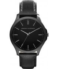 Armani Exchange AX2148 Mens Sukienka czarny skórzany pasek do zegarka