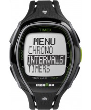 Timex TW5K96400 Ironman 150-lap pełnym rozmiarze elegancki czarny pasek z żywicy zegarek chronograf