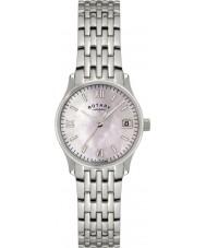 Rotary LB00792-07 Panie zegarki srebrny zegarek perłowy