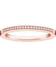 Thomas Sabo Damska glam i dusza wzrosła złoty pierścionek z brylantem