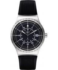 Swatch YIS403 Mężczyźni sistem strzałka czarna gumowa pasek zegarka