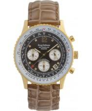Krug-Baumen 400213DS Podróżnik Air diamentowe brązowe wybierania brązowy pasek